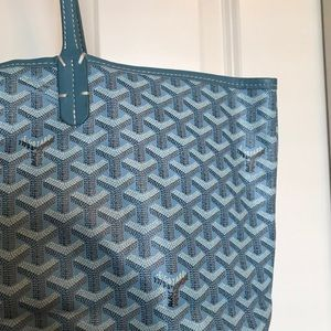 Sky Blue Goyard Bag w Wallet